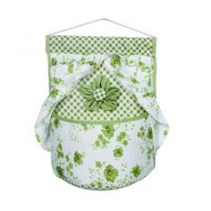 Cotton & Linen Lace Collection Single Pocket Series Bed Cloth Storage Bag Wall