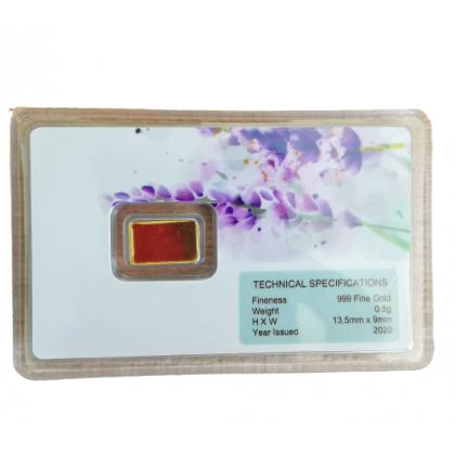 6th Scents 0.5 gram Gold Bar, Jongkong emas