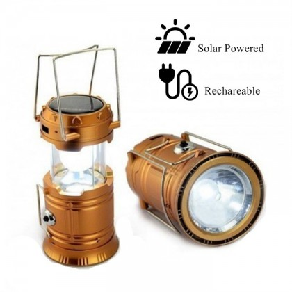 Super Bright Rechargeable Solar Camping Light Lantern Foldable Flashlight LED 3 in 1
