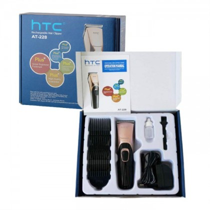 HTC AT-228 Rechargeable Cordless Hair Trimmer Clipper Wireless Shaver