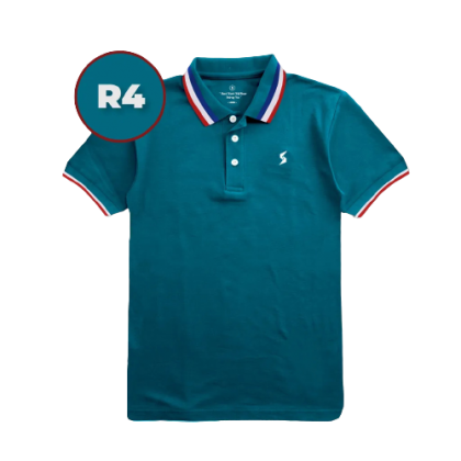 LEON Blue Label Polo T-Shirt R Edition - R4 bluestone