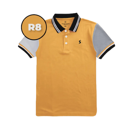 LEON Blue Label Polo T-Shirt R Edition - R8 Texas Orange