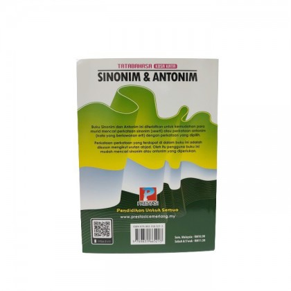 Buku Sinonim dan Antonim Tahap 1 & UPSR (Edisi 2021)