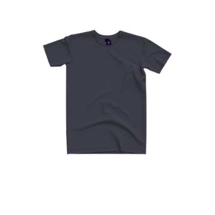 Tigac Charcoal Plain Round Neck Regular Fit Short Sleeve T-shirt