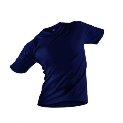 Tigac Navy Plain Round Neck Regular Fit Short Sleeve T-Shirt