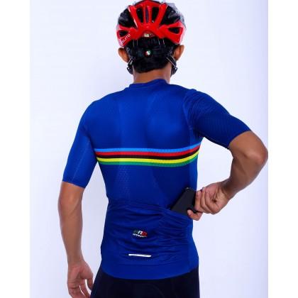 Jersi Basikal Biru - Blue Carana Pro Apparel Cycling Jersey Race Cut