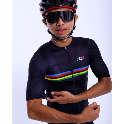 Jersi Basikal Hitam - Black Carana Pro Apparel Cycling Jersey Race Cut