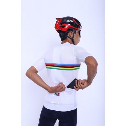 Jersi Basikal Putih - White Carana Pro Apparel Cycling Jersey Race Cut