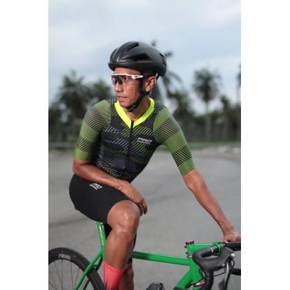 Jersi Basikal Kuning Camo Yellow Pro Apparel Cycling Jersey