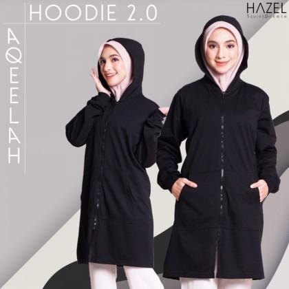 Hoodie Labuh Muslimah HItam Black