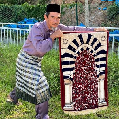 Sejadah Rawdha 092 Merah Tebal 4mm - Red Praying Rug
